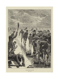 Curling Match Giclee Print by William Small