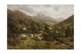 Aber, North Wales Giclée-tryk af William Langley