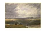 Stonehenge - a Showery Day Gicléedruk van J. M. W. Turner