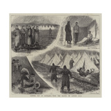 Camping Out in Scotland, with the Militia on Lanark Muir Giclee Print by William Ralston