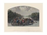Marion Crossing the Pedee, 1852 Giclée-Druck von William Tylee Ranney