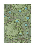 William Morris Wallpaper Sample with Forget-Me-Nots, C.1870 Giclée-tryk af William Morris