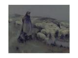 A Shepherdess, C.1890-95 Giclee Print by William Kennedy
