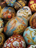 A Collection of Painted Porcelain Easter Eggs by the Imperial Porcelain Factory Lámina giclée