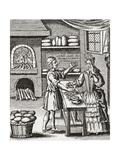 A 16th Century Baker's Shop. from Illustrierte Sittengeschichte Vom Mittelalter Bis Zur Gegenwart b Giclée-vedos