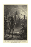 The Plague in Bombay, Burning the Bodies of Victims Giclee Print by William T. Maud