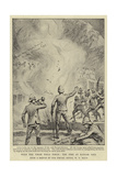 With the Tirah Field Force, the Fire at Kangar Gali Giclee Print by William T. Maud