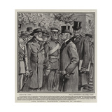 Lord Roberts Inspecting Veterans at Bristol Giclee Print by William T. Maud