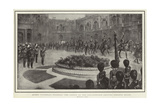 Queen Victoria's Funeral, the Coffin on the Gun-Carriage Leaving Osborne House Giclee Print by William T. Maud