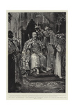 The Ensign of Sovereignty, the Archbishop of Canterbury Placing the Crown on the King's Head Giclee Print by William T. Maud