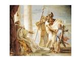 Aeneas Introducing Cupid Dressed as Ascanius to Dido Lámina giclée