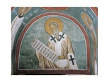 Paintings of a Saint Holding a Letter Giclee Print