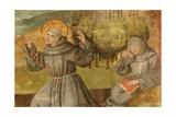 St Francis Receiving Stigmata Gicléetryck