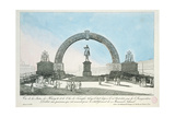 Restoration of the Statue of Henry IV on Pont Neuf, Paris, 25 August 1818 Giclee Print