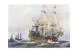 First-Rank French Ship at Time of Colbert (17th Century), Watercolour by Albert Sebille (1874-1953) Gicléedruk