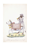 A Man with His Ox, C. 1825 (Pencil, Pen, Black Ink, W/C, on Whatman Paper) Giclee Print