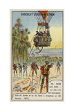 The Balloon Zenith Making a Flight Lasting 23 Hours from Paris to Arcachon, 1875 Reproduction procédé giclée