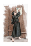 Martin Luther (1483-1546) Hanging His 95 Theses in Wittenberg, 1517 Giclée-tryk