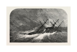 H.M. Steam-Sloop Lapwing (Commander Montagu O'Reilly) in a Gale in the Doro Channel Reproduction procédé giclée