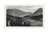 The Denver and Rio Grande Railway, New Mexico, the Fremont Pass, Headwater of the Arkansas Giclee Print