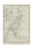 The Arctic Expedition, Map of the Smith Sound Route to the North Polar Sea Giclee-trykk
