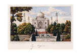 The Taj Mahal from the Garden, C.1840 (Pen and Grey Ink, W/C, Heightened with Touches of White,) Reproduction procédé giclée