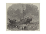 The Wreck of the Hamburg Barque Diana in Bracklesome Bay Near Chichester Giclée-Druck