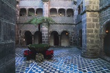 Cloister in Pena National Palace, Sintra (Unesco World Heritage List, 1995), Portugal, 19th Century Stampa giclée