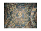 Christ Encircled by Angels and Evangelists About to Judge Twelve Tribes of Israel, Fresco Giclee Print