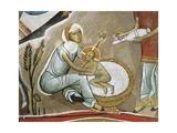 Fresco of Virgin Mary and Jesus Christ, Panagia Too Araka, Bizantine, Troodos Mountains, Cyprus Giclee Print