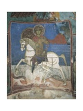 Paintings of St. George on a Horse, Panagia Ties Asinou Church, Nikitari, Cyprus Giclee Print