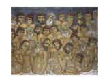 Paintings of a Group of Martyrs, Ayios Nikolaos Ties Steyis, Kakopetria, Cyprus Giclee Print