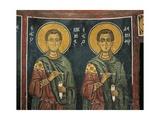Paintings of St. Cosmas with St. Damian, Panagia Ties Asinou Church, Nikitart, Cyprus Giclee Print
