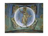 Paintings of Jesus Christ with Angels, Panagia Too Araka, Lagoudera, Cyprus Giclee Print