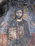 Close-Up of a Fresco of a Pantocrator, Christ Pantocrator, Zoupena, Sparta, Peloponnesus, Greece Giclee Print
