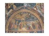 Paintings of Virgin Mary with Abraham, Panagia Ties Asinou Church, Nikitart, Cyprus Giclee Print