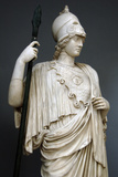 The Athena Giustiniani. Roman Copy of a Greek Statue of Pallas Athena. 2nd Century. Detail Fotografisk tryk