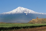 Khor Virap Monastery, 17th Century, Near Artashat, with Mount Ararat in Background, Armenia Photographic Print