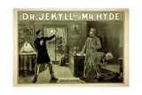 Dr Jekyll and Mr. Hyde, Pub. 1880s Lámina giclée
