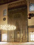Turkey. Bursa. Yesil Mosque. Ottoman Style. Architect, Hac IVaz Pasha, 15th Century. Mihrab Fotografisk tryk