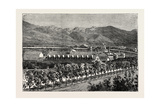 Residence of Brigham Young, Salt Lake City, USA, 1870s Giclée-tryk