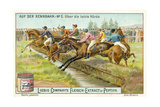 At the Racecourse: over the Last Fence Giclee Print