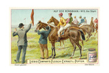 At the Racecourse: at the Start Giclee Print