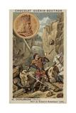 Charlemagne and the Death of Roland at Ronceveaux, 778 Reproduction procédé giclée