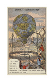 Ascent of the Balloon Le Flesselles, Lyon, France, 1784 Giclee Print