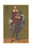 William Shakespeare, English Playwright and Poet Lámina giclée