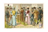 At the Racecourse: Betting Giclee Print