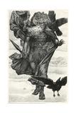Odin and His Crows Reproduction procédé giclée