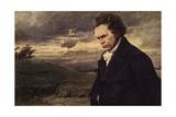 Beethoven, Walking Giclée-Druck