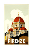 Florence Travel Poster, C.1930 Stampa giclée